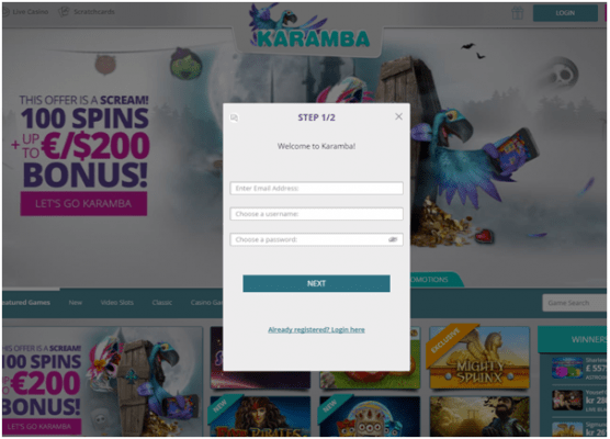 Karamba casino- How to get started
