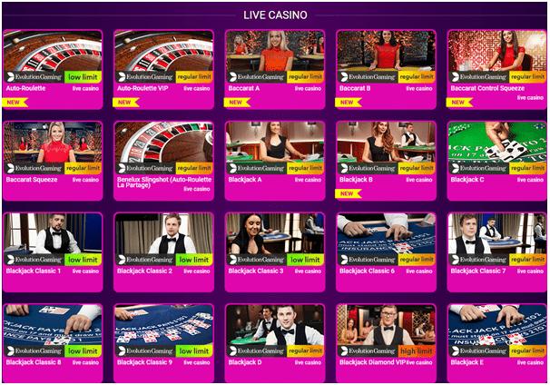 No Bonus Casino- Live Casino