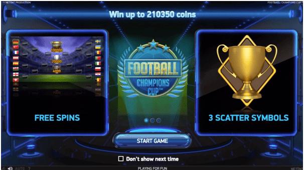 Football themed slots