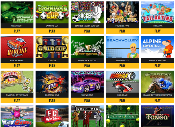 Sports themed slots to enjoy
