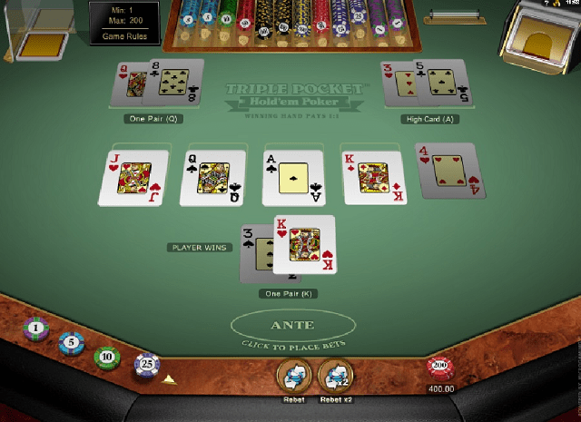 Triple Pocket Holdem Poker