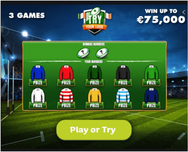 Games to play in Try Your Luck Lotto Ireland