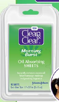 Free Samples of Clean & Clear Morning Burst Oil Absorbing Sheets