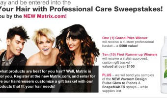 Free Samples of Vavoom Design Pulse Glow to Pieces or Shapemaker Hairspray