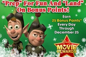 25 Disney Movie Rewards Points Each Day in December
