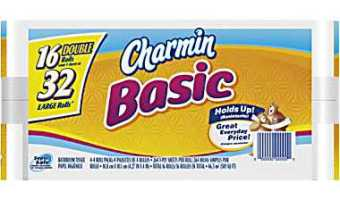 16 Rolls of Charmin Basic Bath Tissue for $6.99