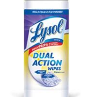 Free Lysol Dual Action Wipes Rebate