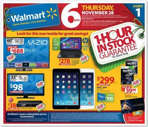 Walmart Black Friday 2013 Ad Scan