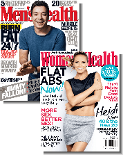 Mens Health and Womens health magazine
