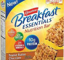 Free Samples of Carnation Breakfast Essentials Nutritional Bar