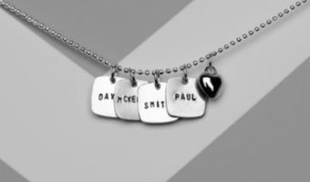 Hand Stamped Necklaces for $9.99