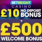 BetBright Casino & Sportsbook £10 free spins and £500 bonus
