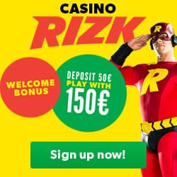 Rizk Casino - 10 free spins or €25 no deposit bonus - fast payments!