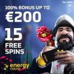EnergyCasino €5 free spins and €400 bonus – no deposit required!