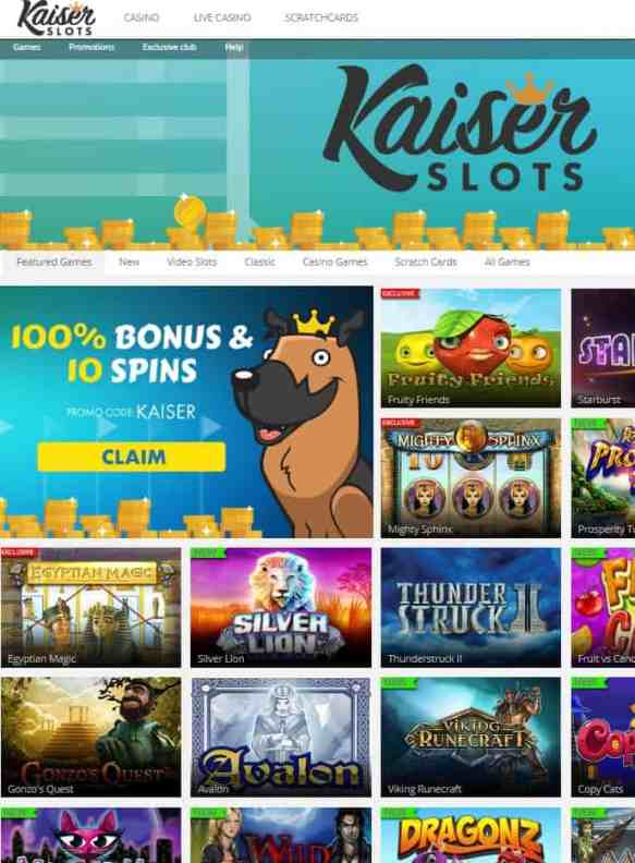 Kaiser Slots Casino Review