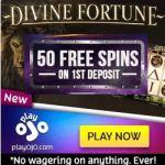 PlayOJO Casino – No Wagering Bonus – 50 Free Spins on Slots