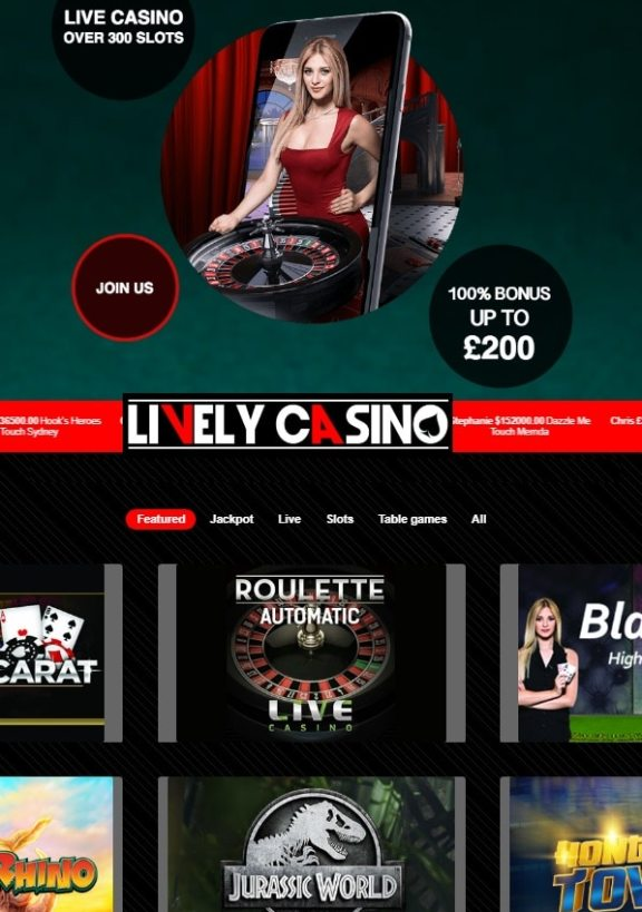 Lively Casino Review