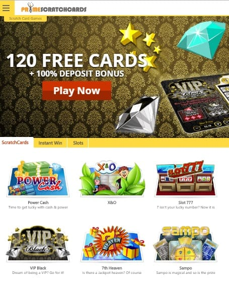 Prime Scratch Cards Review