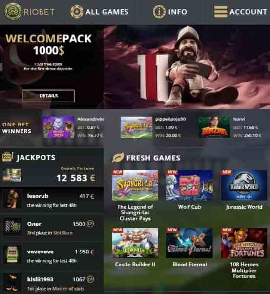 RioBet Casino $15 free bonus
