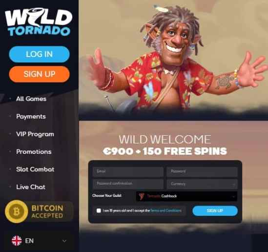 wild tornado casino free bonus