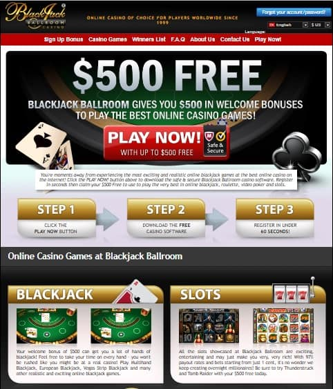 Blackjack Ball Room Casino Review