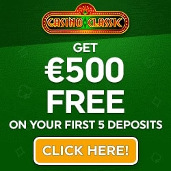 Casino Classic 30 free spins and 325% up to €500 free chip bonus