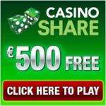 Casino Share 50 free spins & 175% up to €500 welcome bonus