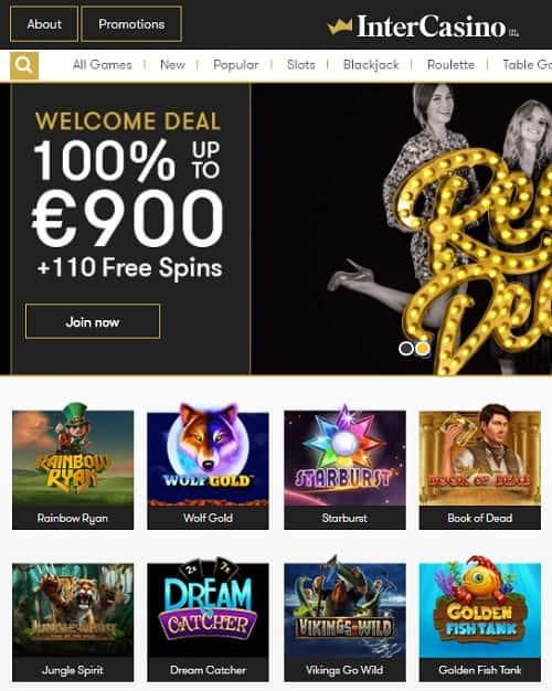 InterCasino free spins bonus