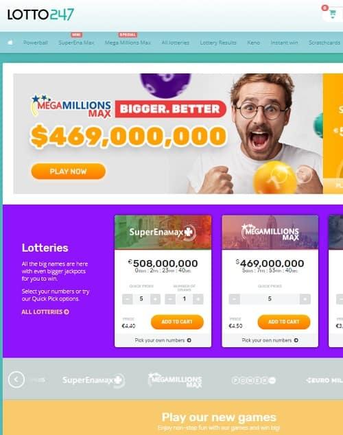 Lotto247.com free bonus