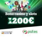 Paf Casino España (paf.es) – 35 free spins + 1200€ gratis bonus