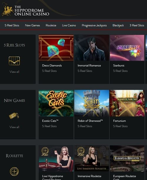 The Hippodrome Online Casino Free Spins