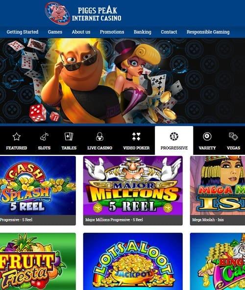 Piggs Peak Casino free spins bonus