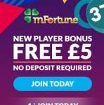 mFortune Mobile Casino – £5 FREE no deposit bonus for UK