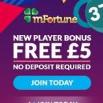 mFortune Mobile Casino – £5 FREE no deposit bonus for UK