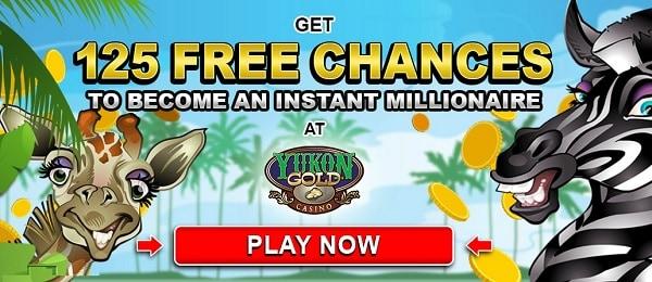 Yukon Gold Casino 125 free spins microgaming