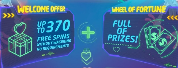 LuckMe Casino 370 gratis spins welcome bonus