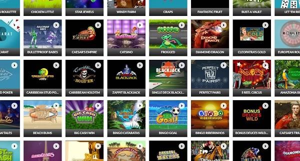 Slots.com Casino games and software