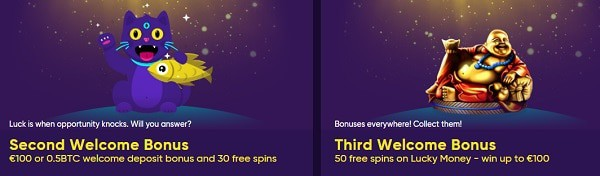 Welcome Bonus on 2nd and 3rd deposit
