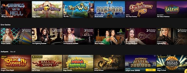Bethard Casino free play games
