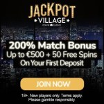 Jackpot Village Casino 50 gratis spins and 200% free bonus