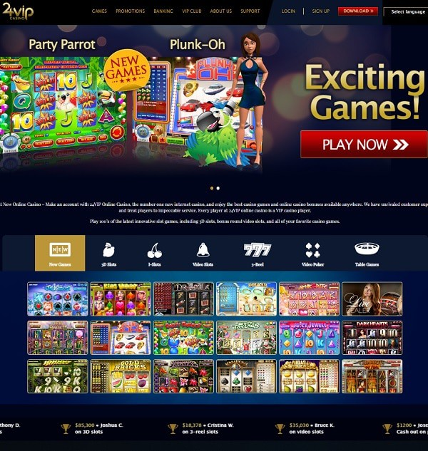 24 VIP Online Casino Review
