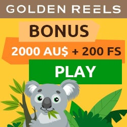 GOLDEN REELS - 200 free spins and 100% up to $2000 bonus