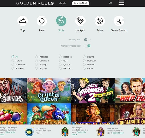 Goldenreels Casino free play bonus