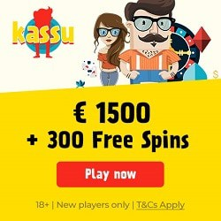 Kassu Casino 300 free spins and $/€1500 welcome bonus