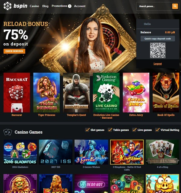 Bspin.io Online Casino Review