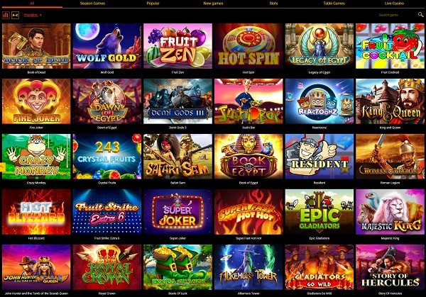20 free spins on Dead or Alive II or Gonzo's Quest (no deposit bonus)