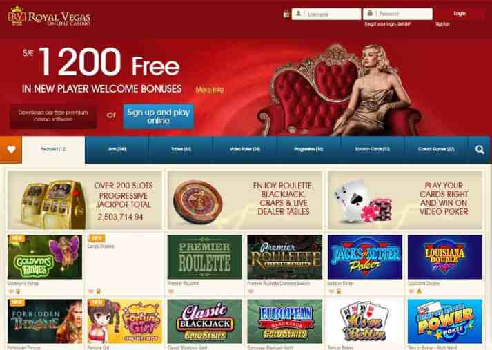 Royal Vegas Casino review: free spins, free bonus, Microgaming