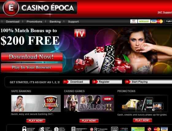 Casino Epoca $200 free bonus