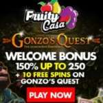 Fruity Casa Casino 150% up to €250 and 10 free spins bonus