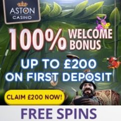 Aston Casino   £200 bonus and free spins   slots games & live dealer